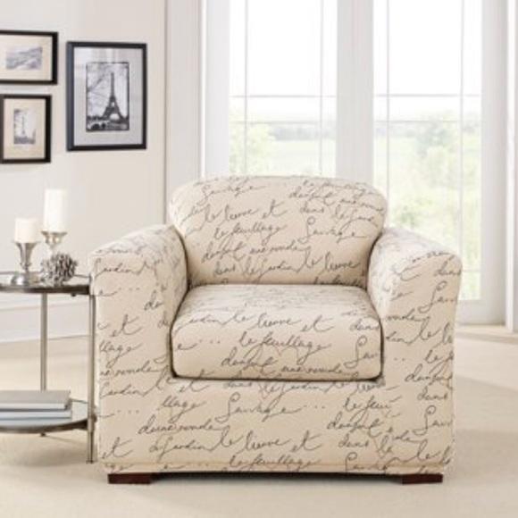 Terrific Waverly Surefit Chair Slipcover Inzonedesignstudio Interior Chair Design Inzonedesignstudiocom